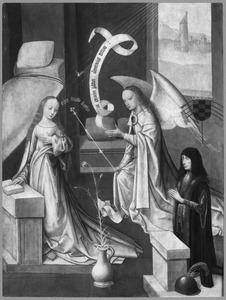 De annunciatie met stichter (op de achterzijde: de aanbidding van de Wijzen)