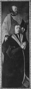 De H. Petrus met stichter (op de buitenzijde: de H. Hieronymus)