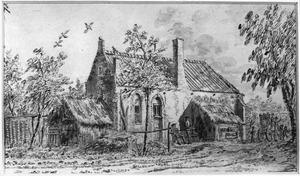 De kapel te Helsdingen bij Vianen, vanuit het zuidwesten gezien