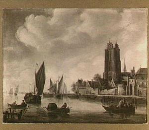 Fantasiegezicht op Dordrecht