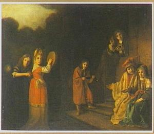 Familieportret in oud-testamentaire aankleding
