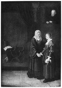 Sara brengt Hagar naar Abraham (Genesis 16:3)