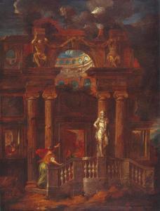 Mercurius verandert Aglaurus voor straf in een standbeeld