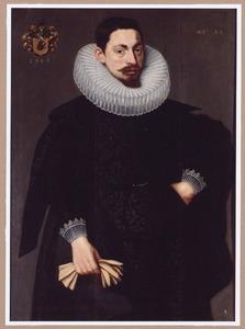 Portret van een bebaarde man op de leeftijd van 32 jaar