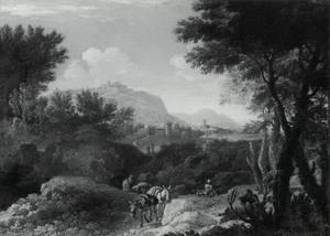 Zuidelijk landschap met muildieren