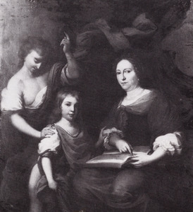 Dubbelportret van een moeder en zoon