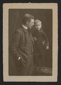Portret van Hendrik Enno van Gelder (1876-1960) en Jan Gerrit van Gelder (1903-1980)