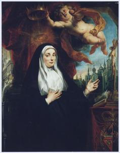 boekPortret van de Infanta Isabella Clara Eugenia (1566-1633) gekleed in het habijt van de Orde van de H. Franciscus van Assisi