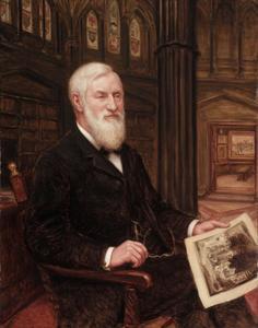 Portret van de prentenverzamelaar en uitgever James E. Scripps (1835-1906)