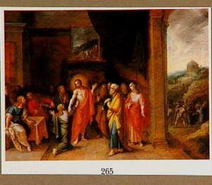 Het ongeloof van de H. Thomas; op de achtergrond de dood van Thomas