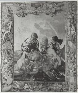 Alexander de Grote in de rivier Cydnus van de verdrinkingsdood gered