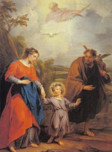 De terugkeer van de Heilige Familie uit Egypte