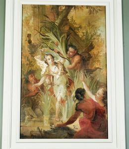 Diana en haar nimfen verrast door satyrs