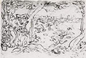 Kraanvogelvangst met lokaas in papieren trechters