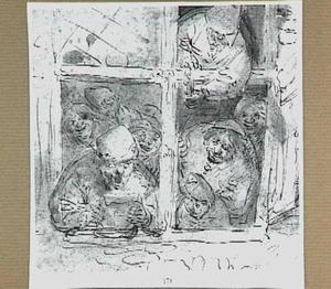 Zingende figuren in een venster
