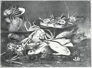 Visstilleven met groente