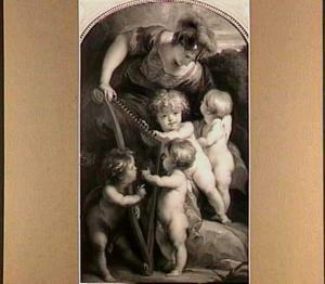 Allegorische voorstelling met Minerva en drie putti