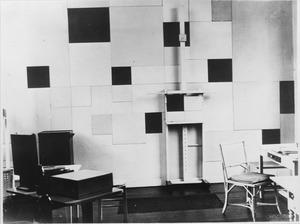 Het atelier van Piet Mondriaan