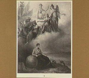 Allegorie op Frankrijk, bedreigd door Engeland