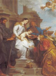 Het mystieke huwelijk van de H. Rosalia van Palermo