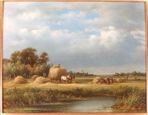 Landschap met hooiscène