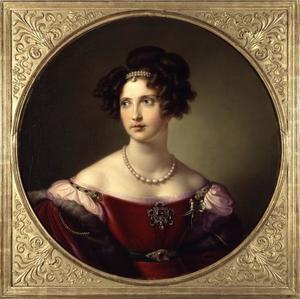 Portret van Elisabeth prinses van Beieren (1801-1873), als kroonprinses van Pruisen