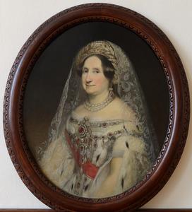 Portret van een vrouw, waarschijnlijk koningin Anna Paulowna, grootvorstin van Rusland (1795-1865)
