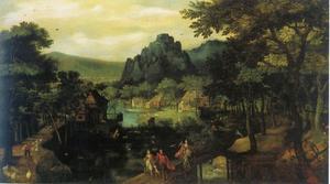 Landschap met de verstoting van Hagar (21: 9-21)