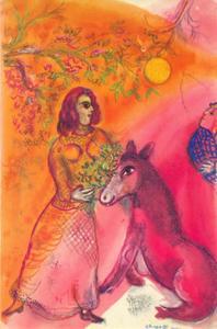 De vrouw met de ezel
