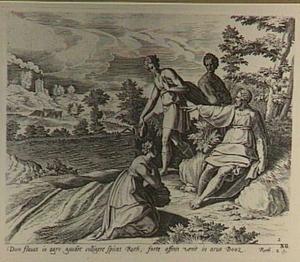Boaz bevraagt Ruth en geeft zijn dienaren opdracht haar naar believen aren te laten lezen (Ruth 2:15)