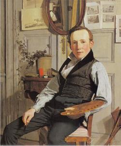 Portret van de landschapschilder Frederik Sødring