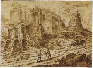 Landschap met klassieke ruïnes (Thermen van Caracalla?)