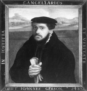Portret van Johannes (Jean Charlier) Gerson (1363-1429)