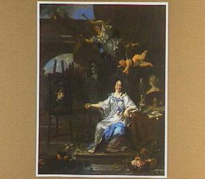 Portret van een vrouw, waarschijnlijk Rachel Ruysch (1664-1750), als Pictura
