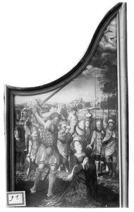 De onthoofding van de H. Catharina (op de buitenzijde: De kruisiging)