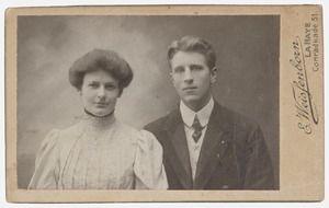 Portret van Dirk Vreede (1883-1955) en Pieternella Frederika Volcke (1882-1961)