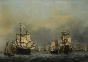 De overgave van het Engelse admiraalsschip de 'Royal Prince' op 13 juni 1666, tijdens de Vierdaagse Zeeslag, 11-14 juni 1666: episode uit de Tweede Engelse Oorlog (1596-1667)