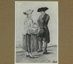 Boer en boerin in gesprek