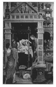 Rochus geneest een aan de pest lijdende kardinaal te Rome