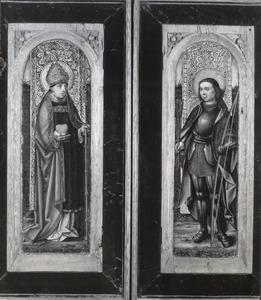De H. Augustinus (links), de H. Sebastiaan (rechts)