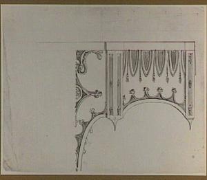 Ontwerp voor een wanddecoratie in neogotische stijl