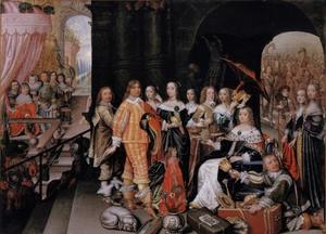 Verheerlijking van Elisabeth Charlotte van de Palts, keurvorstin van Brandenburg, als koningin van Sheba