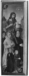 Portret van Dirck van Heemskerck van Beest (....-1545) met zijn zonen en de H. Johannes de Doper