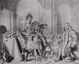 Dubbelportret van Anthony de Bordes (1615-1678) en zijn zoon Antoni de Bordes (1665-1722)