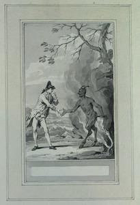 Illustratie bij 'De gelukkig geworden echtgenoot' uit de Fabelen en vertelsels van F.C. Gellert