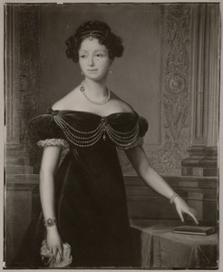 Portret van koningin Anna Paulowna (1795-1865) als prinses van Oranje