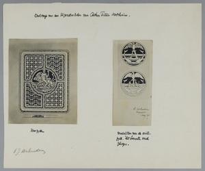 Ontwerp voor een sigarettenkoker voor Arthur Tutein Nolthenius, voor- en achterzijde