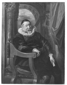 Portret van een 73-jarige, zittende man
