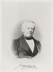 Portret van Johannes Tiberius Bodel Nijenhuis (1797-1872)