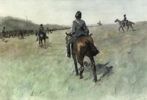 Cavalerie op manoeuvre